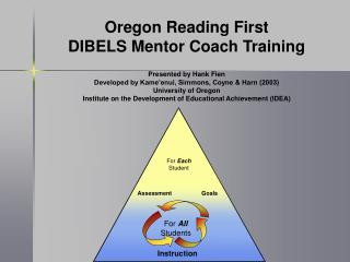 Oregon Reading First DIBELS Mentor Coach Training