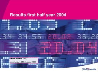 Results first half year 2004