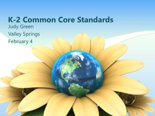 K-2 Common Core Standards