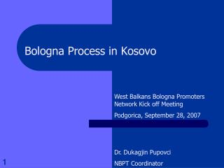 Bologna Process in Kosovo
