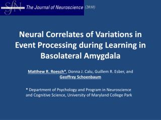 Neural Correlates of Variations in Event Processing during Learning in Basolateral Amygdala
