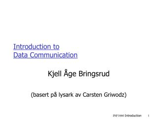 Introduction to Data Communication