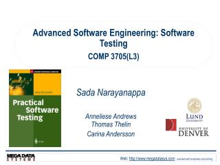 Advanced Software Engineering:  Software Testing COMP 3705(L3)