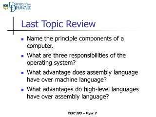 Last Topic Review