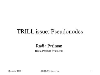 TRILL issue: Pseudonodes