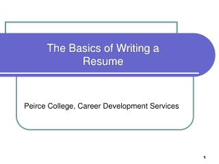 Peirce College, Career Development Services