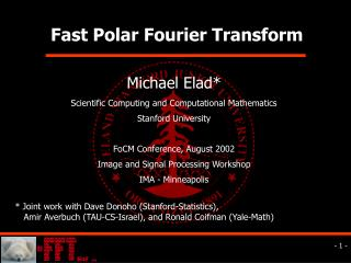 Fast Polar Fourier Transform