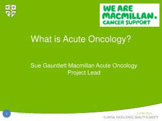 What is Acute Oncology?