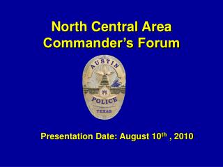 North Central Area Commander's Forum