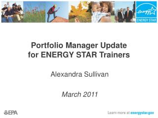 Portfolio Manager Update for ENERGY STAR Trainers
