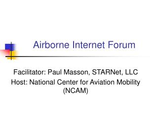 Airborne Internet Forum