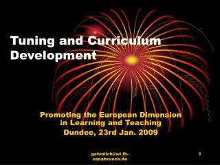 Tuning and Curriculum Development