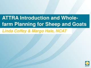 ATTRA Introduction and Whole-farm Planning for Sheep and Goats