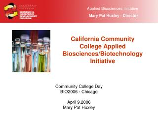 California Community College Applied Biosciences/Biotechnology Initiative