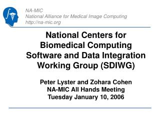 National Centers for Biomedical Computing Software and Data Integration Working Group (SDIWG)