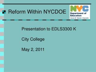 Reform Within NYCDOE