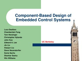 Component-Based Design of Embedded Control Systems