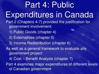 Part 4: Public Expenditures in Canada