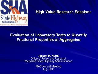 High Value Research Session: