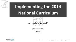 Implementing the 2014 National Curriculum