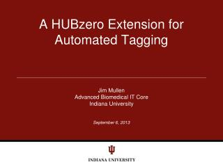 A HUBzero Extension for Automated Tagging