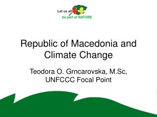 Republic of Macedonia and Climate Change
