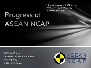 Progress of ASEAN NCAP