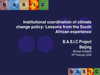 Institutional coordination of climate change policy: Lessons from the South African experience