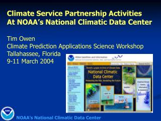 NOAA's National Climatic Data Center