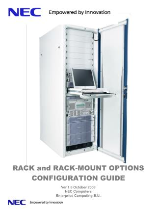 RACK and RACK-MOUNT OPTIONS CONFIGURATION GUIDE