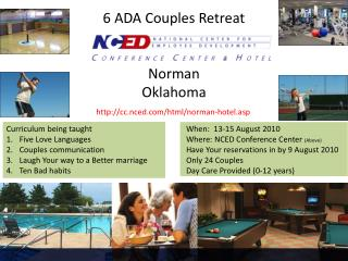 6 ADA Couples Retreat Norman  Oklahoma