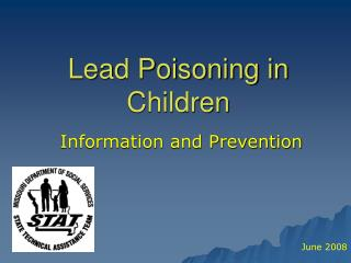 Lead Poisoning in Children