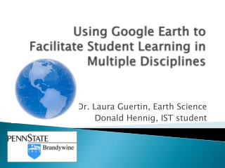 Using Google Earth to Facilitate Student Learning in Multiple Disciplines