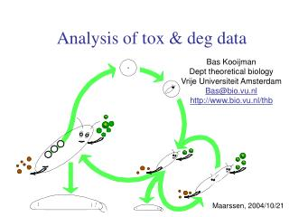 Analysis of tox & deg data