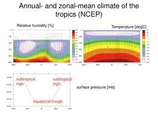 Annual- and zonal-mean climate of the tropics (NCEP)
