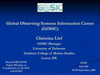 Global Observing Systems Information Center (GOSIC)