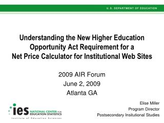 2009 AIR Forum June 2, 2009 Atlanta GA