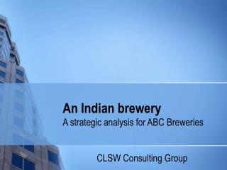 An Indian brewery