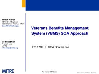 Veterans Benefits Management System (VBMS) SOA Approach