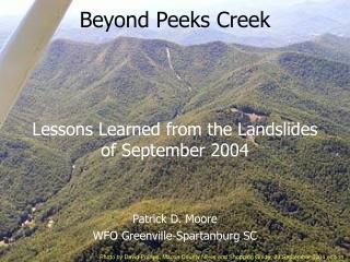 Beyond Peeks Creek