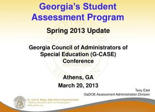 Georgia's Student Assessment Program