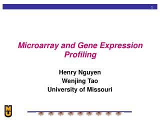 Microarray and Gene Expression Profiling