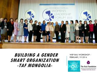 B building  a Gender Smart Organization -TAF Mongolia-