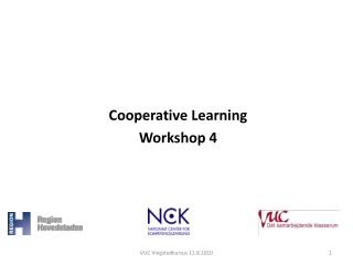 Cooperative Learning Workshop 4