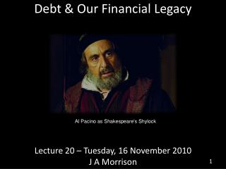Debt & Our Financial Legacy