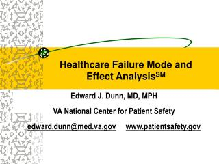Healthcare Failure Mode and Effect Analysis SM