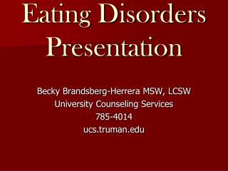 Eating Disorders Presentation