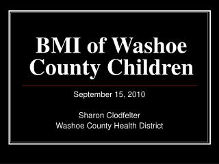BMI of Washoe County Children