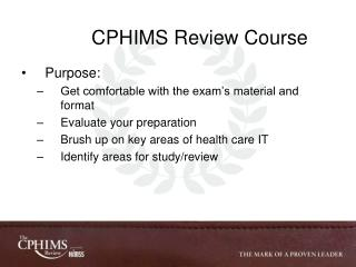 CPHIMS Review Course