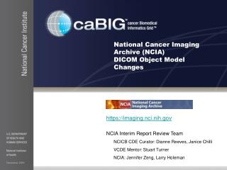 National Cancer Imaging Archive (NCIA)  DICOM Object Model Changes